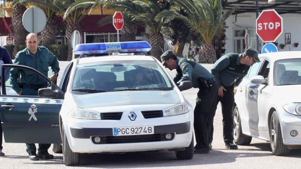 Guardia Civil durante un operativo